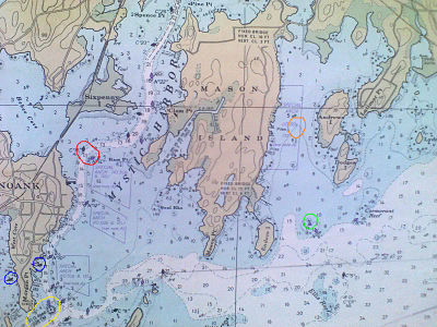 Nautical charts are read