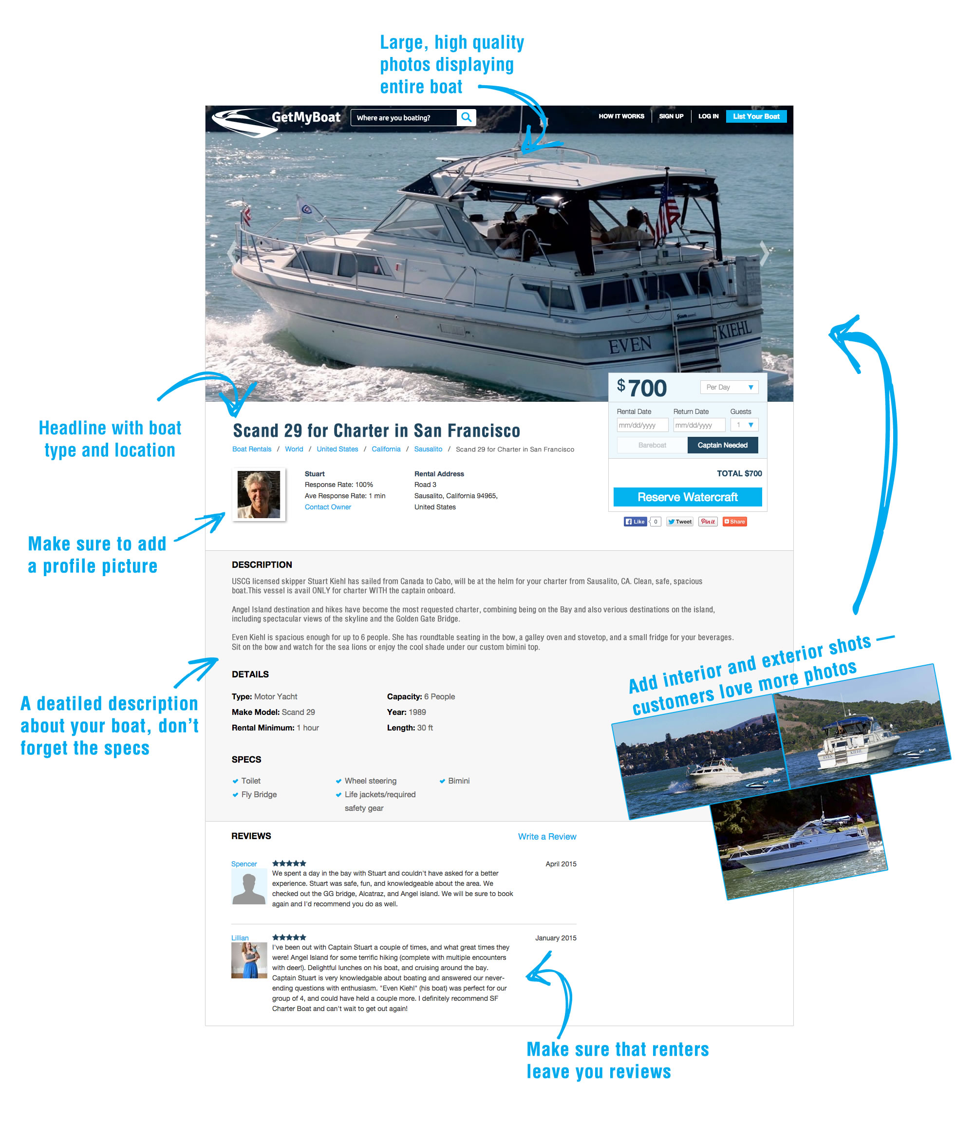 How to Create a Stunning Boat Rental/Charter Listing