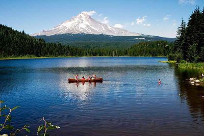 Boating Near Mount Hood