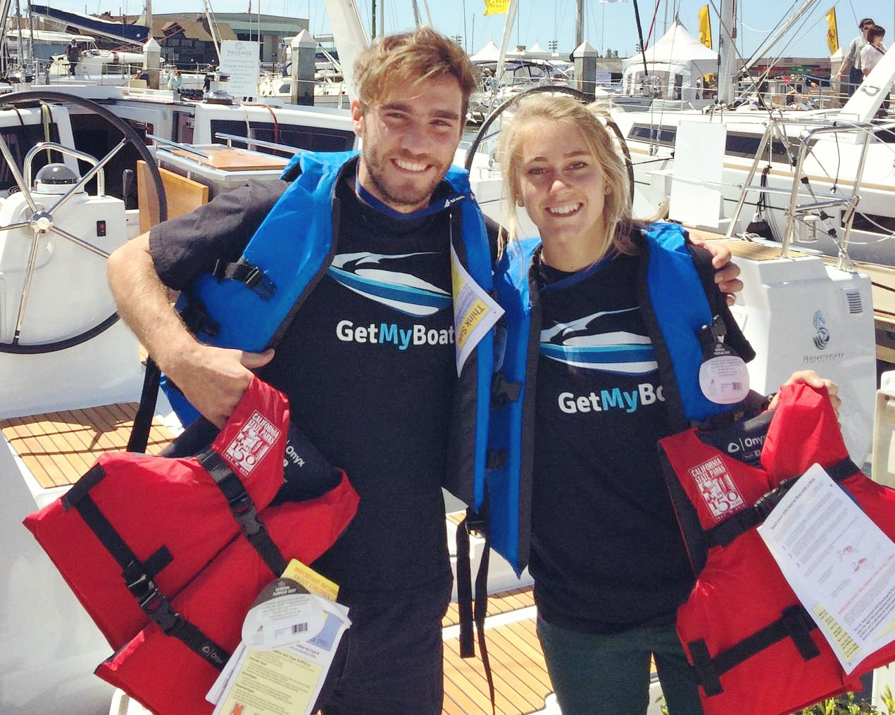 GetMyBoat hosts life jacket exchange at Strictly Sail Pacific